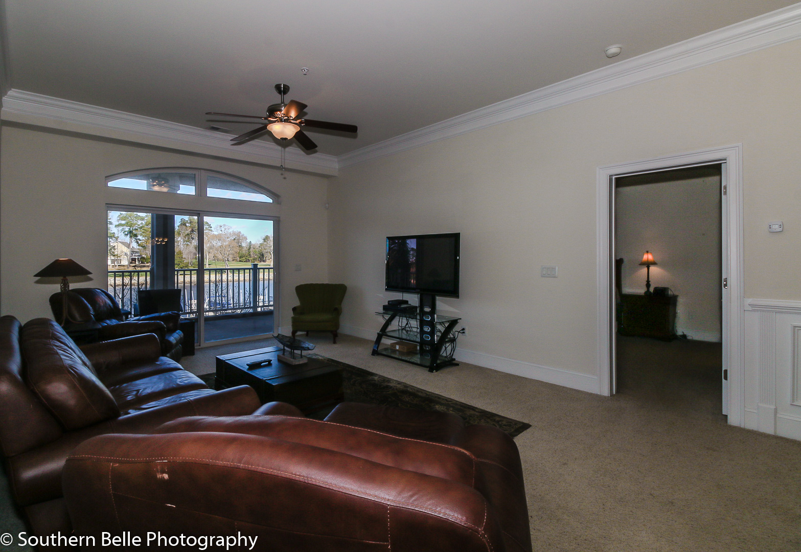 12. Living Area with Intercoastal and golf View WM