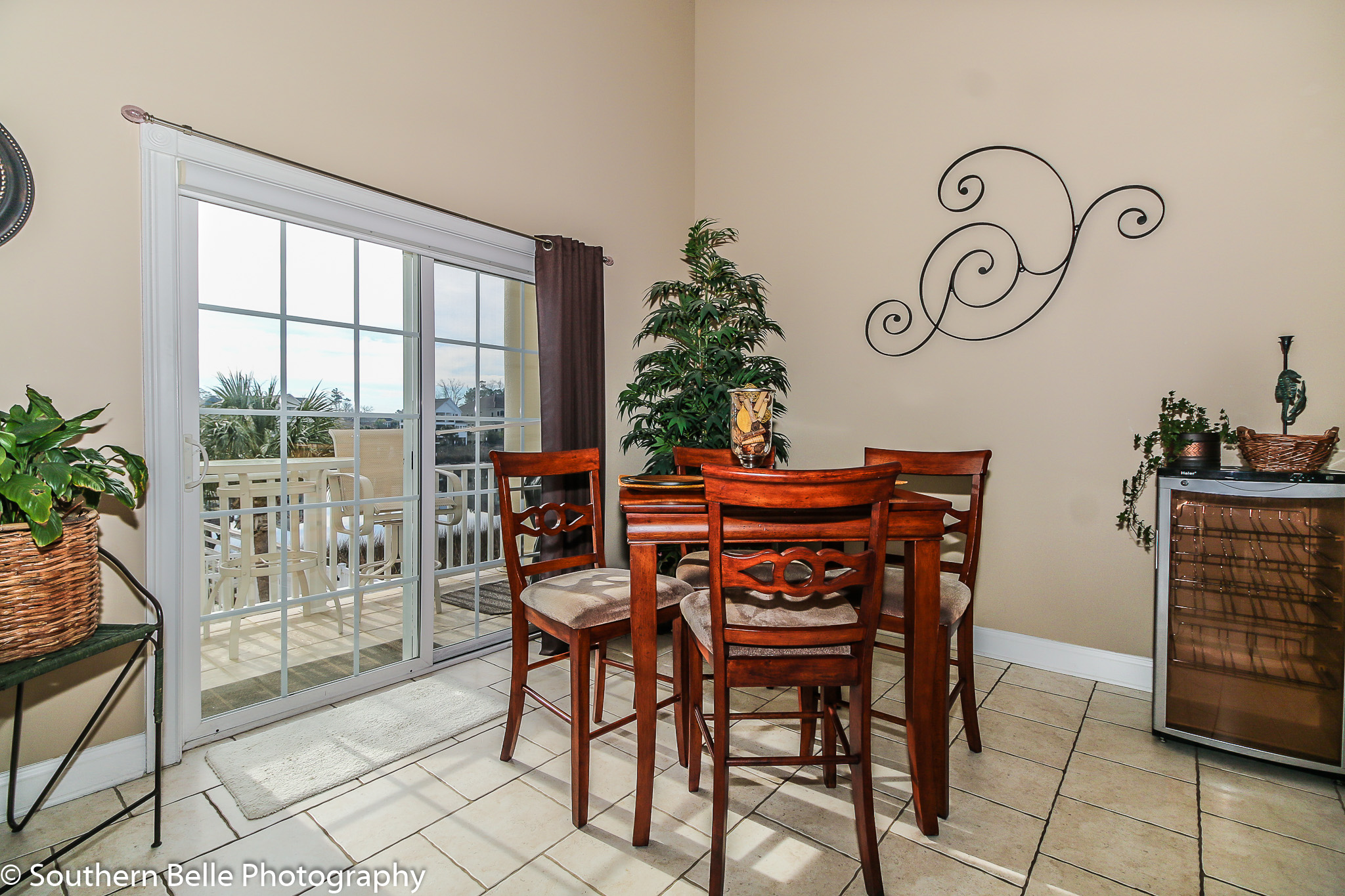 12. Dinning Area off Kitchen with Balcony Views WM