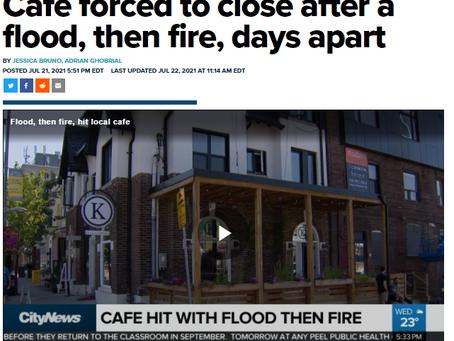 CityNews: Café forced to close after a flood, then fire, days apart