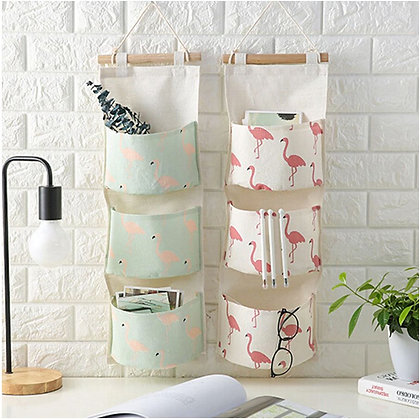Wall Hanging Organizer - Flamingo White