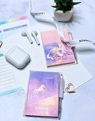 Unicorn Memo Pad With Pen - Sweet Dreams - Pink