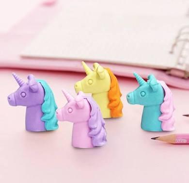 Unicorn Pencil - Top Erasers - Pink & Purple
