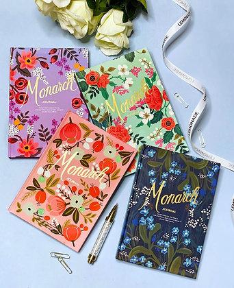 Journal - Monarch Floral - Blue