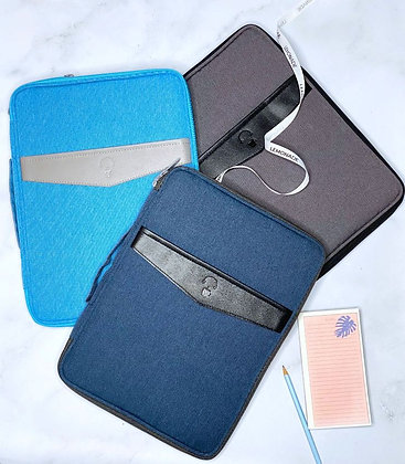 Laptop Sleeve - With Pockets - Light Blue