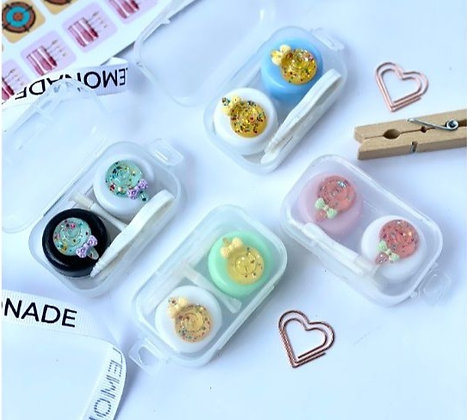 Travel Glitter Contact Lens Kit - Yellow & White