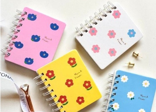Floral Spiral Notebook - Yellow