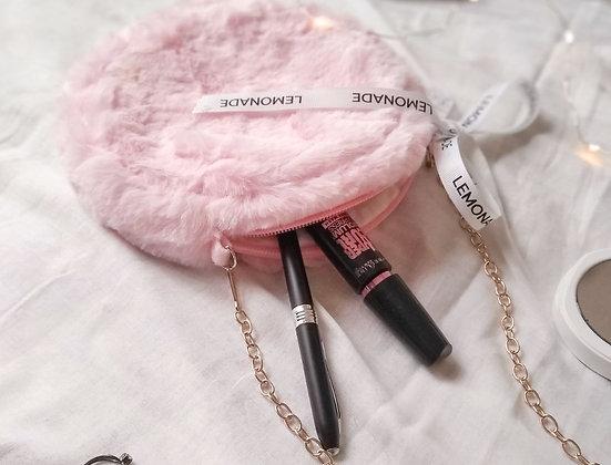 Faux Fur Sling Bag - Pretty Pink