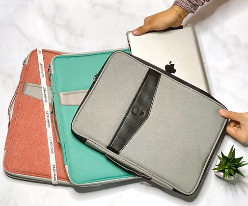 Laptop Sleeve - With Pockets - Light Grey