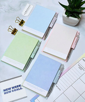 Checks MemoPad with Pen - Set of 45 Pages - Green