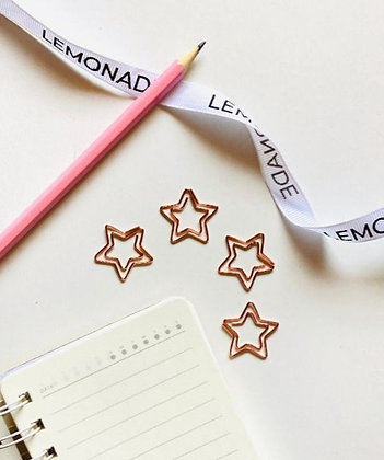 Bookmark/Paper Clips Set of 6 - Shining Star - Rose Gold