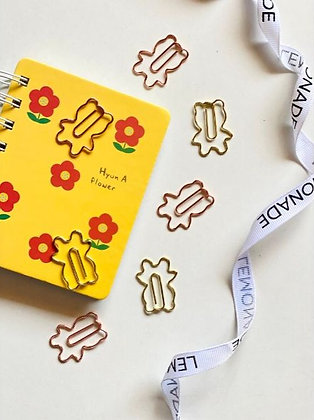 Paper Clips / Bookmark Set of 6 - Cuddly Teddy