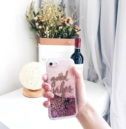 Iphone Cover - X/XS - Good Vibes Only - Pink