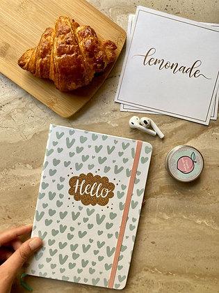Notebook - With Elastic Enclosure - Hello