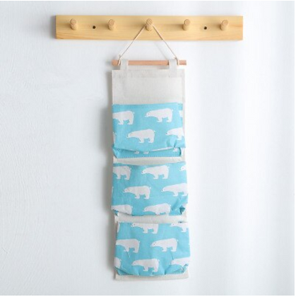 Wall Hanging Organizer - Bear Blue