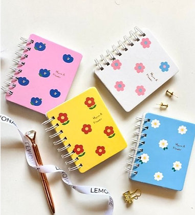 Floral Spiral Notebook - Pink