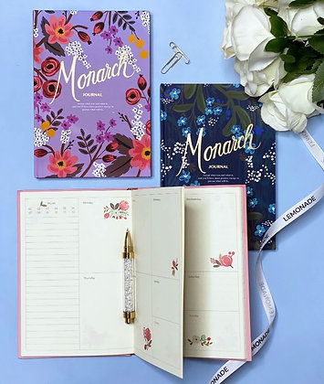 Journal - Monarch Floral - Purple
