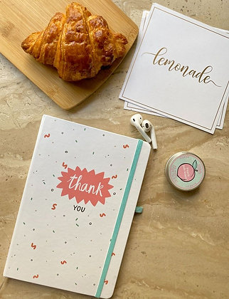 Notebook - With Elastic Enclosure - Thank You
