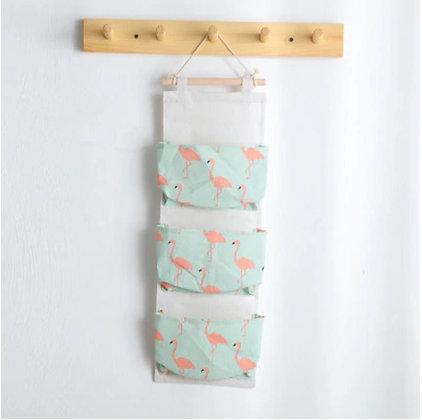 Wall Hanging Organizer - Flamingo Mint