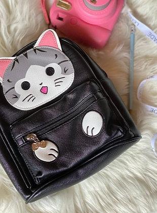 Backpack Cute Kitty - Black
