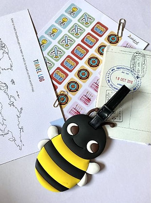 Quirky Travel Luggage tag - Queen Bee