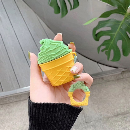 AirPods Case - Ice Cream - Green