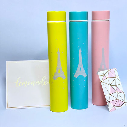 Insulated Bottle - Eiffel Tower - Pink
