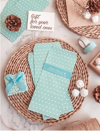 Vintage Envelopes - Tiffany Hearts - Set of 5