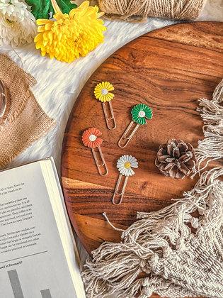 Metallic Bookmark Paperclip - Sunflower