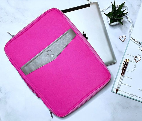Laptop Sleeve - With Pockets - Pink