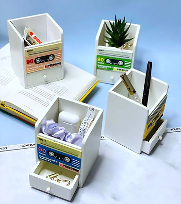 Penstand - Cassette with a Drawer - Green