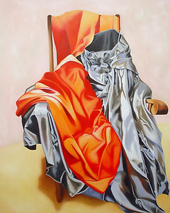 contemporary art, toronto artist, oil painting, fabric painting