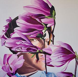 figurative art, Toronto artist, oil painting, contemporary Canadian art, portraits, floral art, collage art