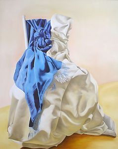 art contemporary painting artist painting fabric oil paint
