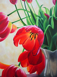 painting contmporary art tulips oil artist toronto