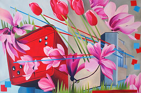 painting collage contemporary art artist oil toronto