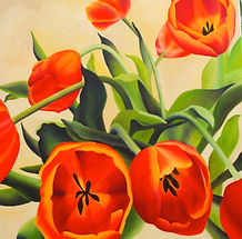 tulips painting contemporary art artist toronto