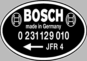 Bosch Distibutor Part Numbers