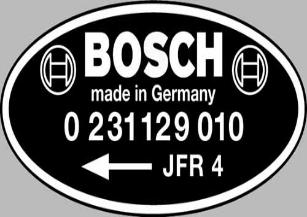 Bosch Distibutor Part Numbers