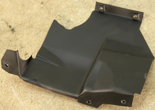 (AAC-04) 1975-1978 VW Bus Type 4 Front Right Warm Air Duct Engine Tin.jpg
