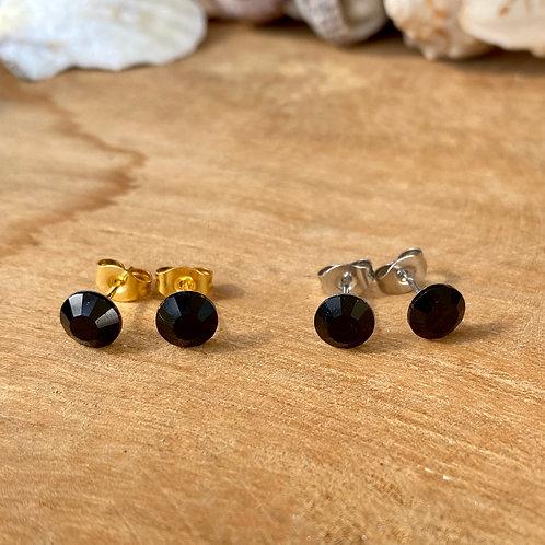 Swarovski oorbellen zwart