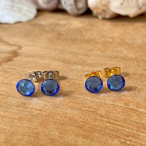 Swarovski oorbellen blauw