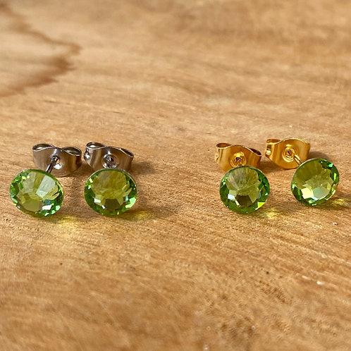 Swarovski oorbellen groen