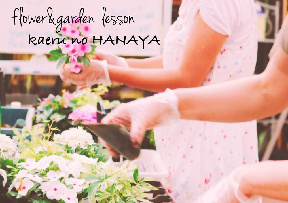 ハンギングバスケット教室横浜|Kaeru no HANAYA