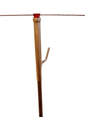 Seilhalter, vertikal verstellbar, Rohrlänge 200 mm