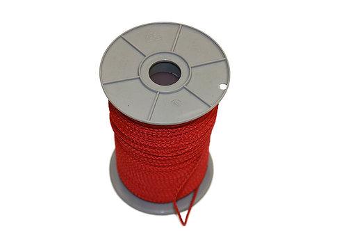 Pflastererschnur, 100 Meter 3 mm stark, rot