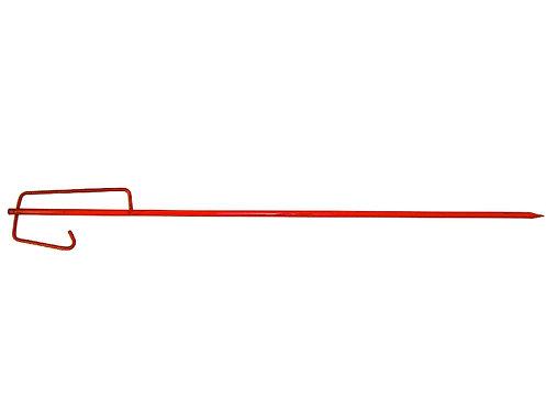 Absperrleinenhalter, gehärtete Spitze, Sicherheitsbügel 1250 x14 mm