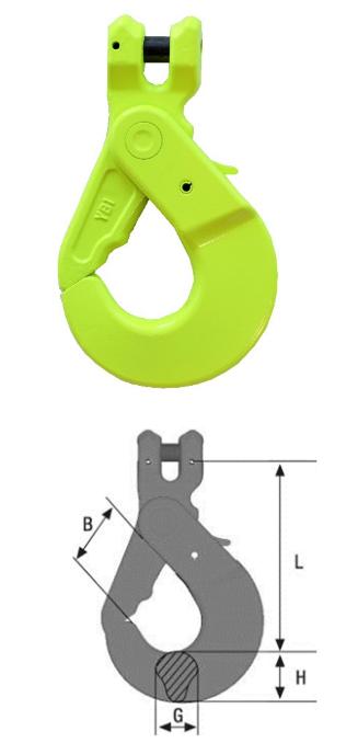 Absetzkipperhaken Typ BKGC mit Gabelkopf