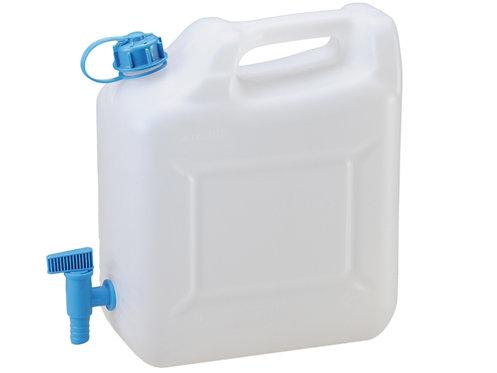 Wasserkanister 12 Liter, lebensmittelecht, mit Ablasshahn