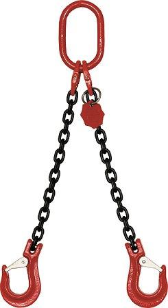 Anschlagkettengehänge, 2-strängig, KETTE 6 mm, Güteklasse 8