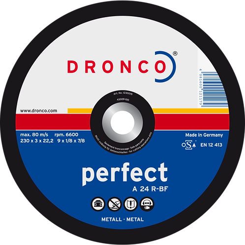 Trennscheiben für Metall, Dronco, 125 und 230 mm, für Winkelschleifer